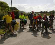 Group cycling holiday