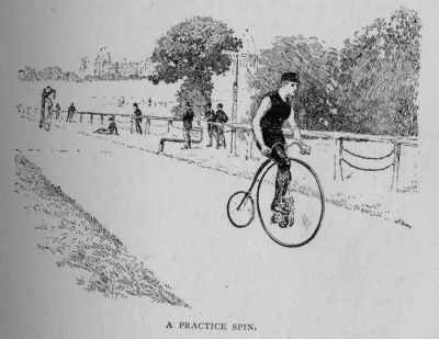 cycling training penny farthing