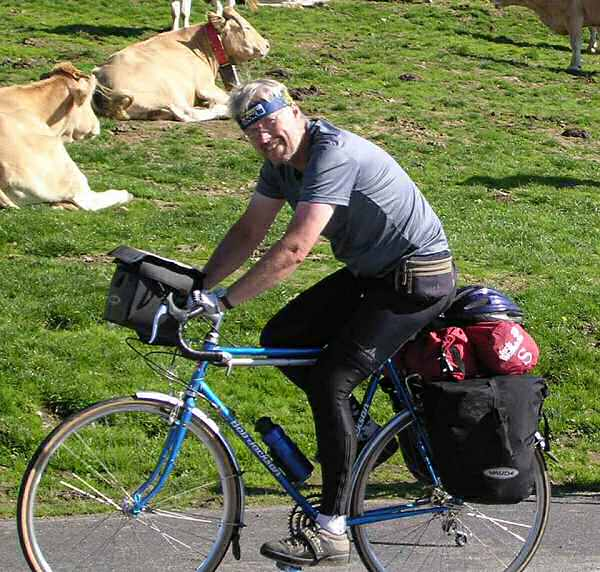 geoff cycling in the pyrenees
