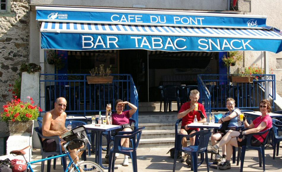 Bar on cycling holiday france