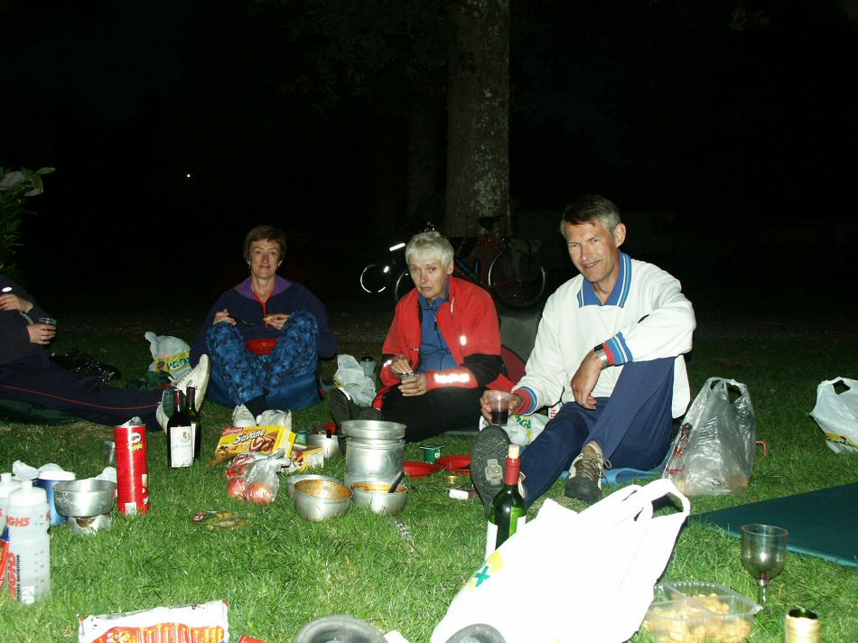 late night dinner in camp